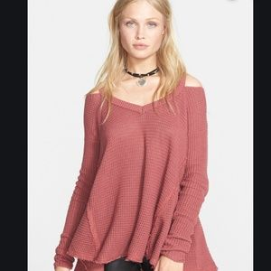 Moonshine free people cold shoulder sweater